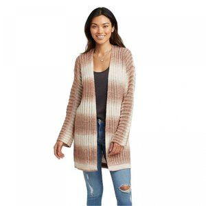 NWT Knox Rose Striped Cardigan Sweater S Natural